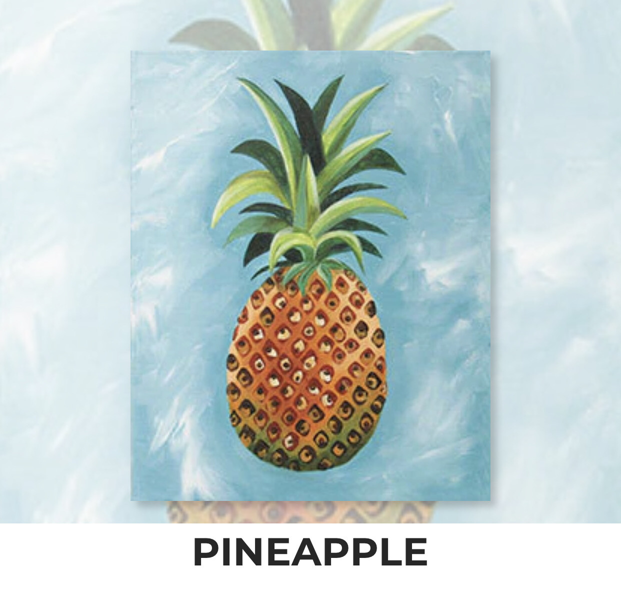 Pineapple ADULT Acrylic Paint On Canvas DIY Art Kit