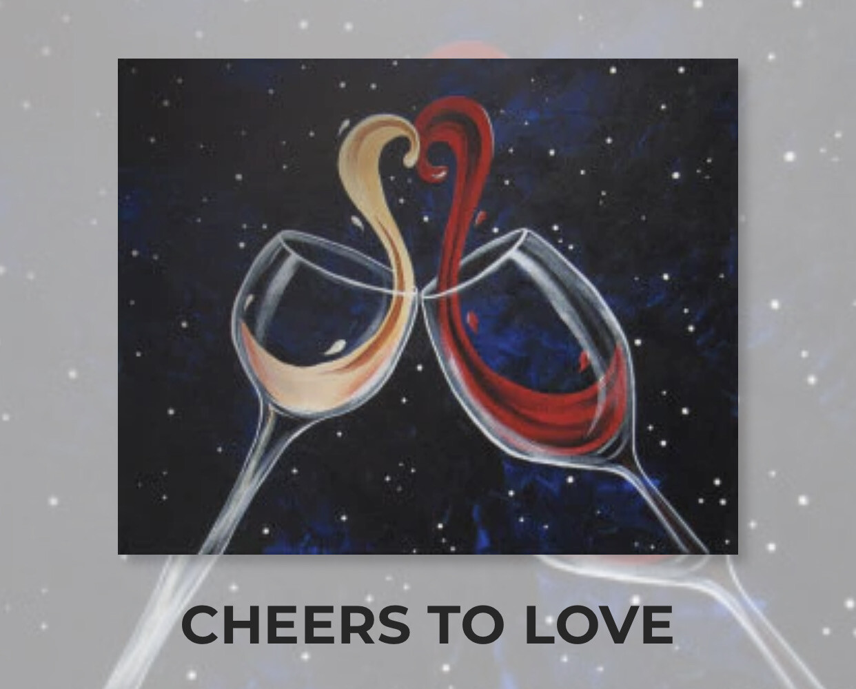 Cheers To Love ADULT Acrylic Paint On Canvas DIY Art Kit