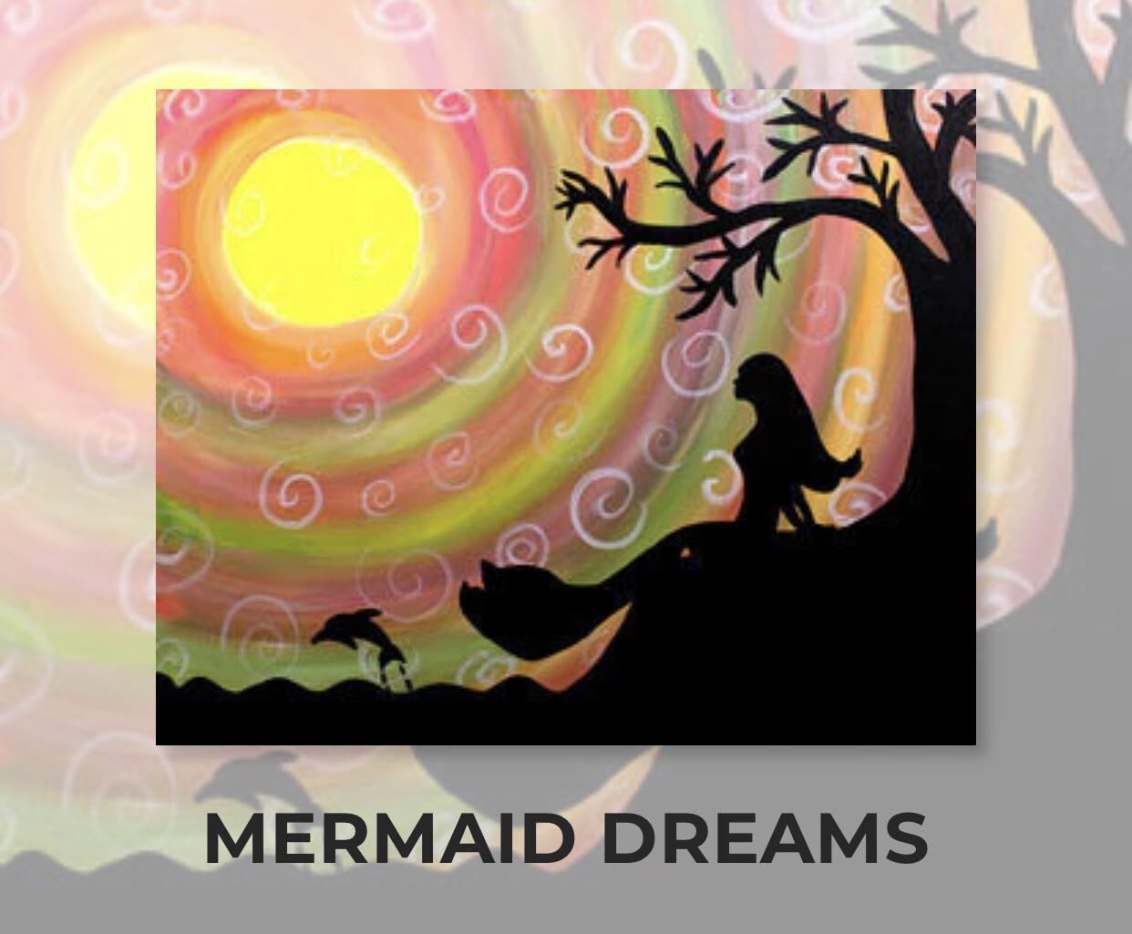 Mermaid Dreams ADULT Acrylic Paint On Canvas DIY Art Kit