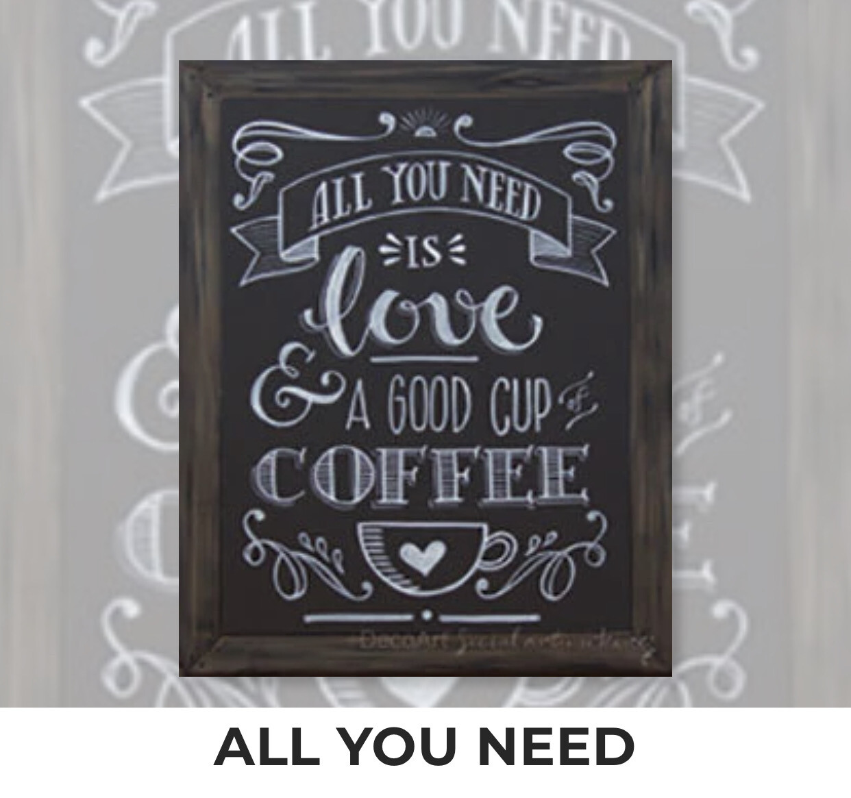 All You Need is Love and a Good Cup of Coffee ADULT Acrylic Paint On Canvas DIY Art Kit