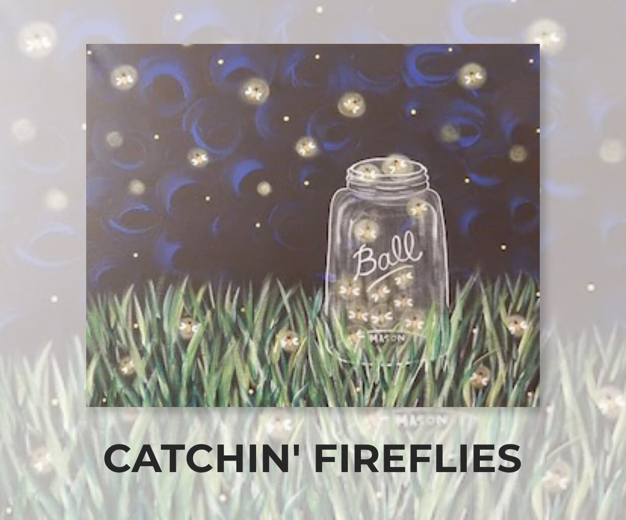 Catchin' Fireflies ADULT Acrylic Paint On Canvas DIY Art Kit