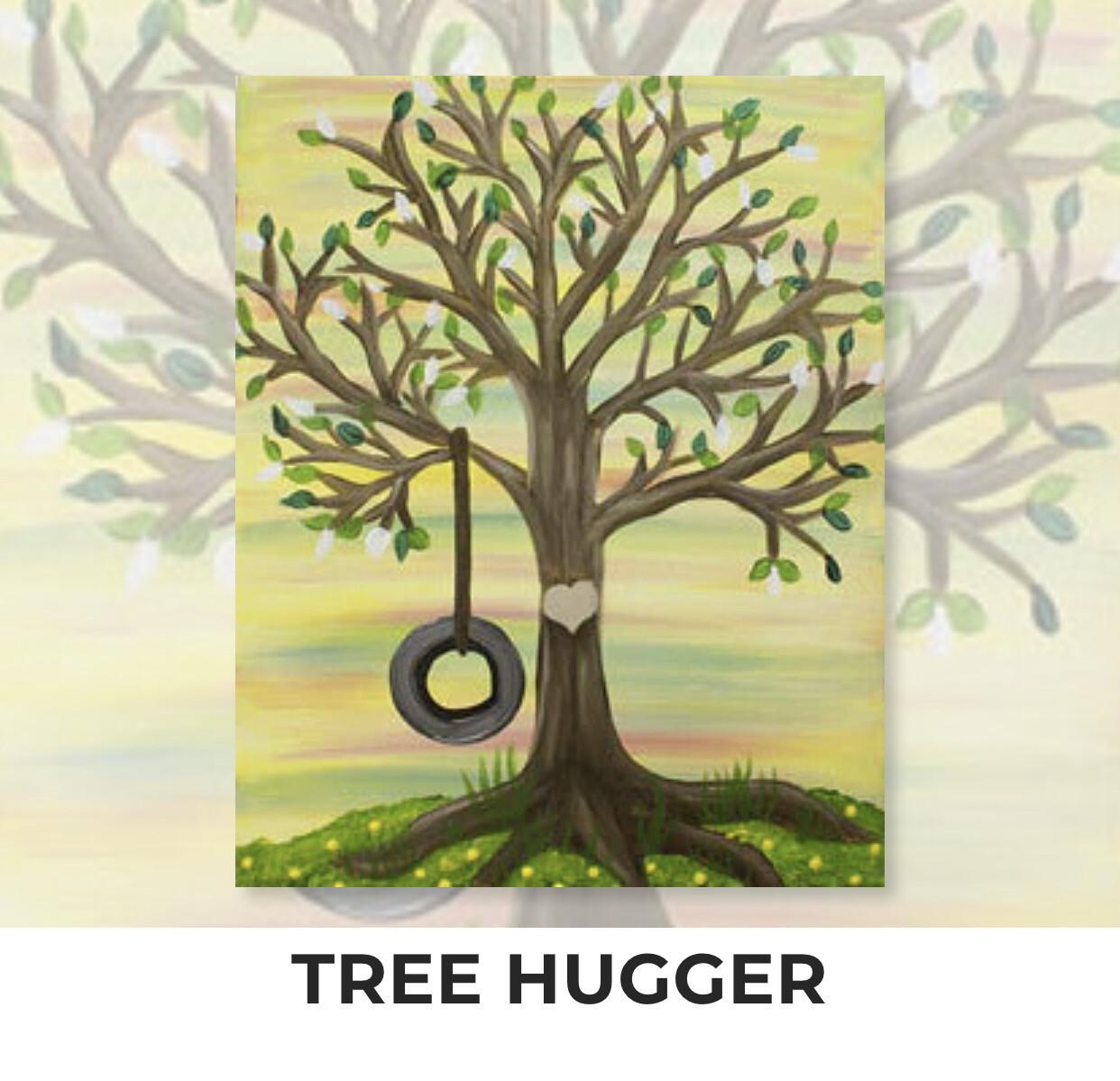 Tree Hugger ADULT Acrylic Paint On Canvas DIY Art Kit