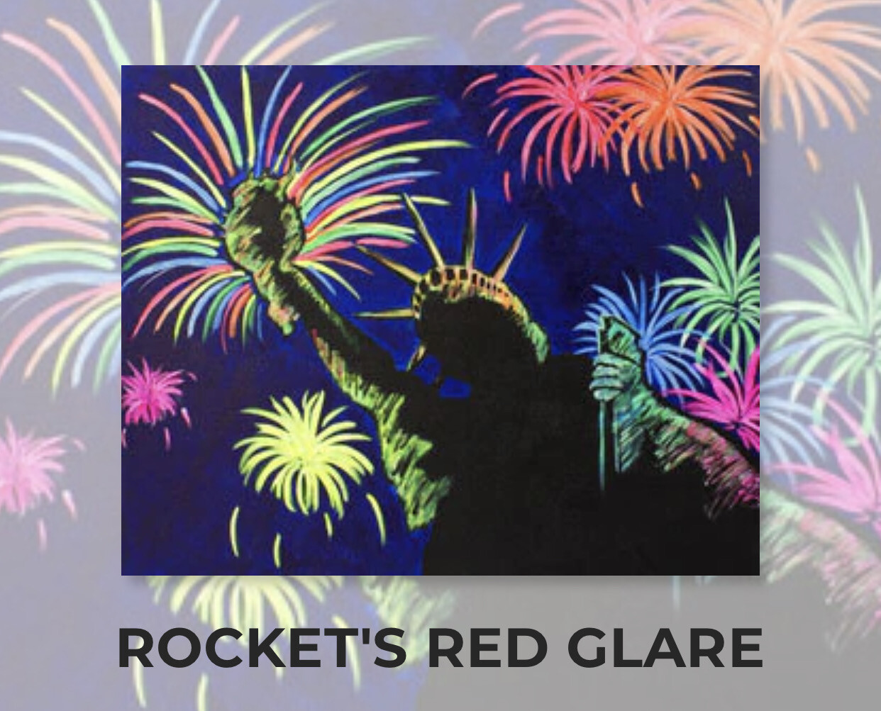 Rocket's Red Glare ADULT Acrylic Paint On Canvas DIY Art Kit