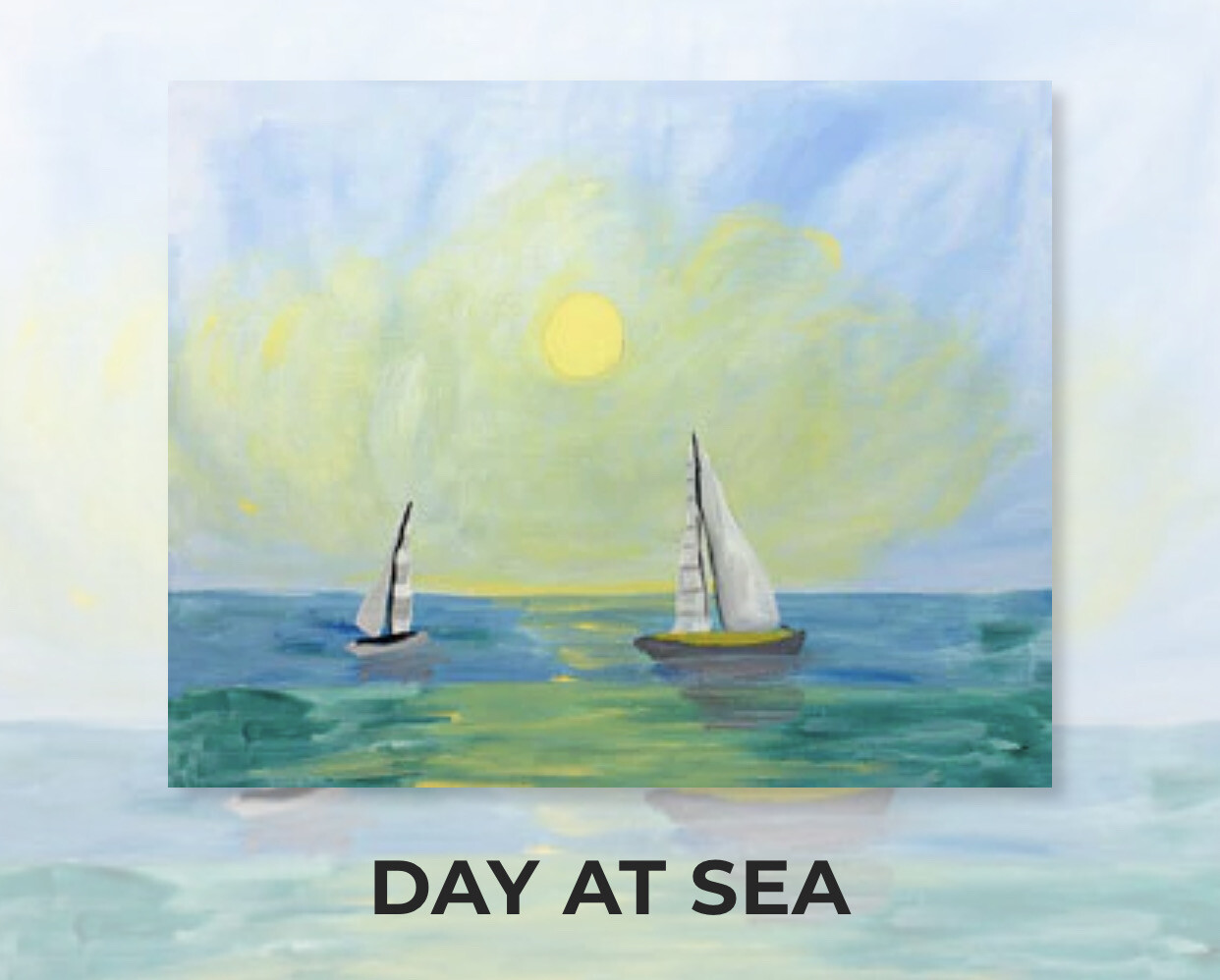 Day At Sea ADULT Acrylic Paint On Canvas DIY Art Kit  - 3 Week Special Order