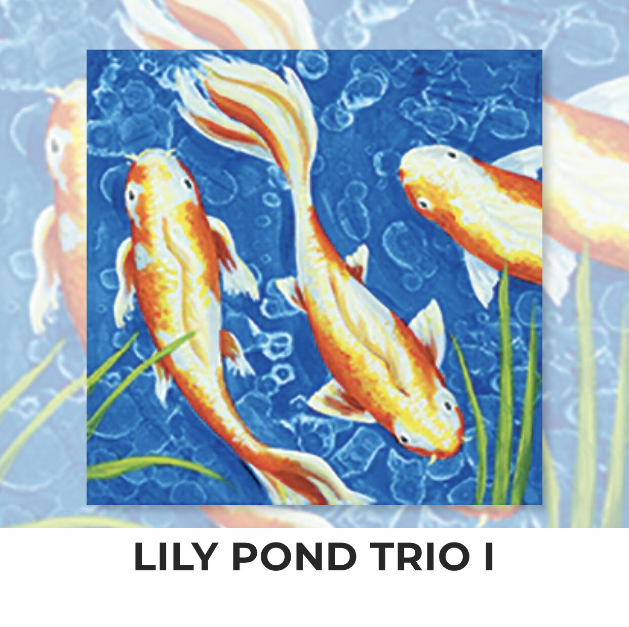 LILY POND TRIO I - Zoom Paint and Sip Night - Thursday, July 1 - 6-8pm - Order By June 15 - Reservation For One Adult