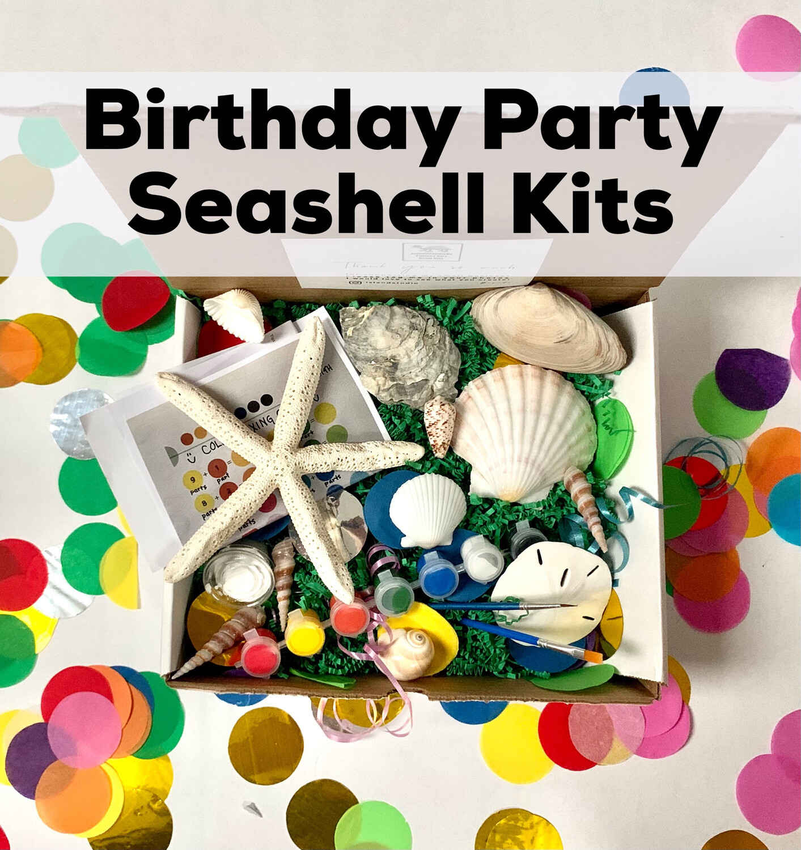 Discounted Birthday Party Kits - Seashell Painting Kits - Minimum of 6 Guests
