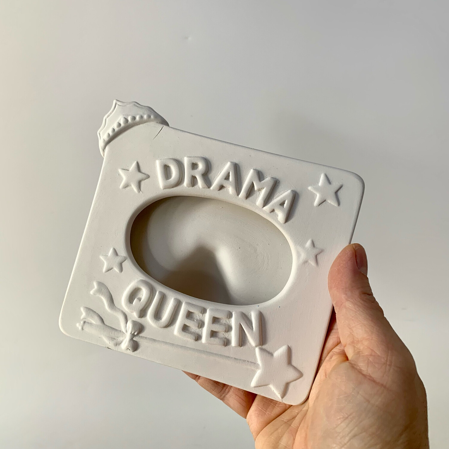 Paint Your Own Pottery - Ceramic   Drama Queen Photo Picture Frame Painting Kit