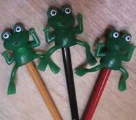 Frog pencil topper