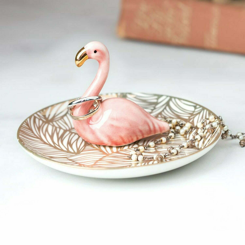 Flamingo trinket tray