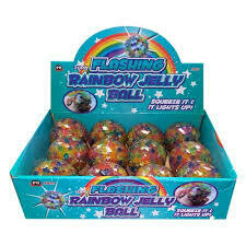 Flashing Rainbow Jelly Ball