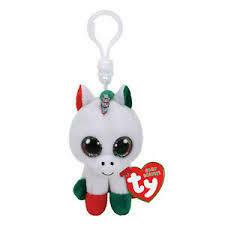 Candy Cane Unicorn Clip