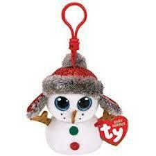 Buttons Snowman Clip
