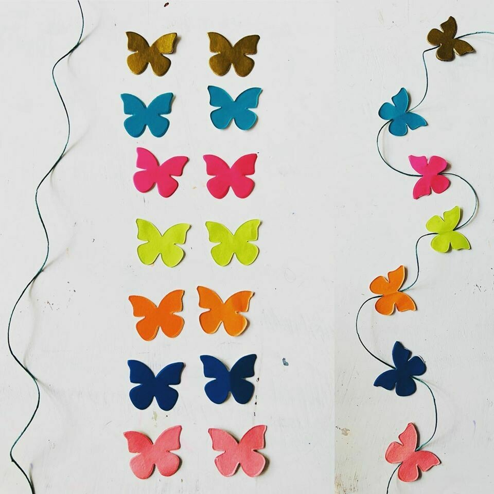 Recycled Butterfly Garland Kit