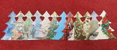 REcraft Christmas: reclaimed Christmas tree cut outs