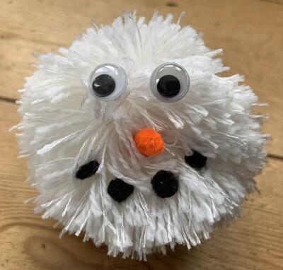 Snowman Pom Pom Decoration Kit