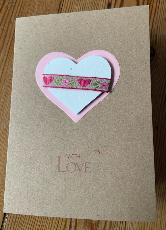 With Love Card with added love to grow