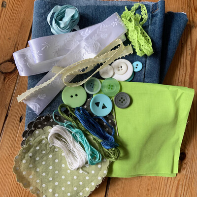 Fabric Bunting Reclaimed Materials Pack