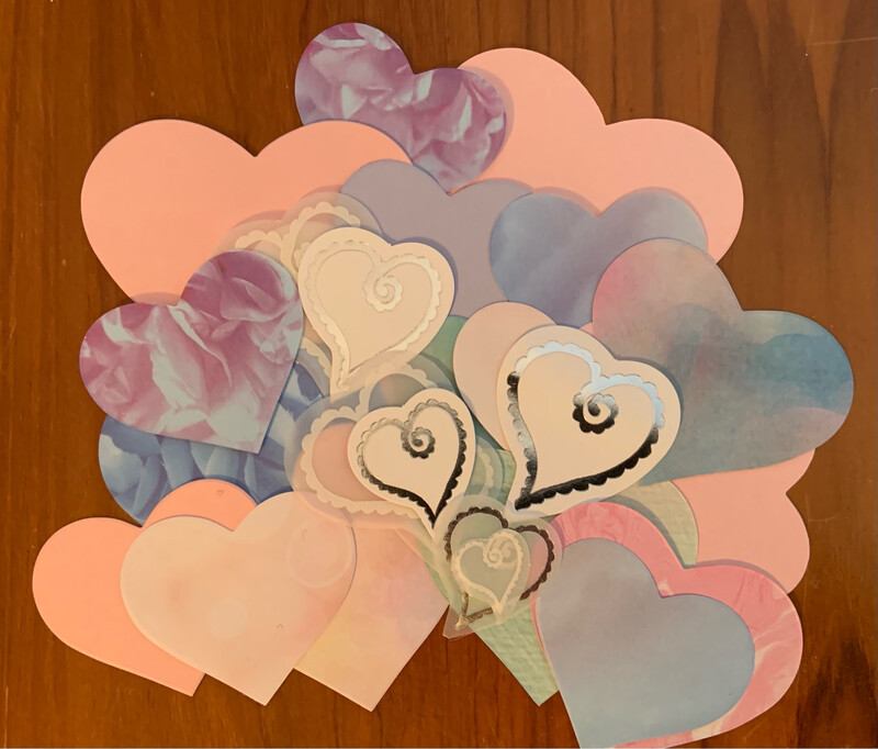 Bag of Hearts (pastel colours)