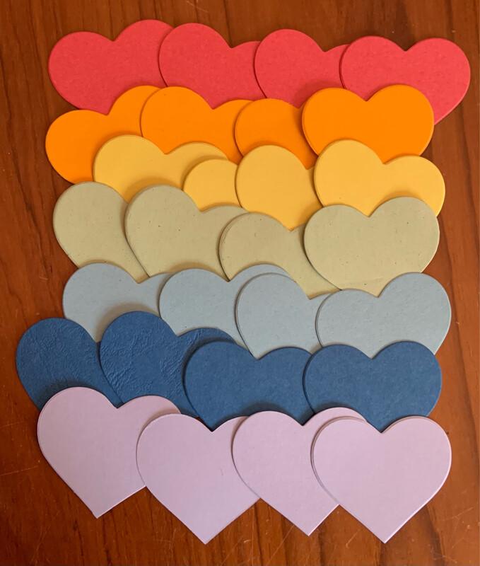 Bag of Hearts (rainbow colours)