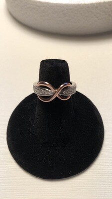 925 Sterling Silver Infinity Ring - Size 6