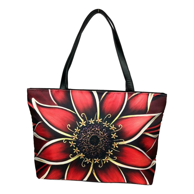 Red Daisy Sling Shoulder Bag