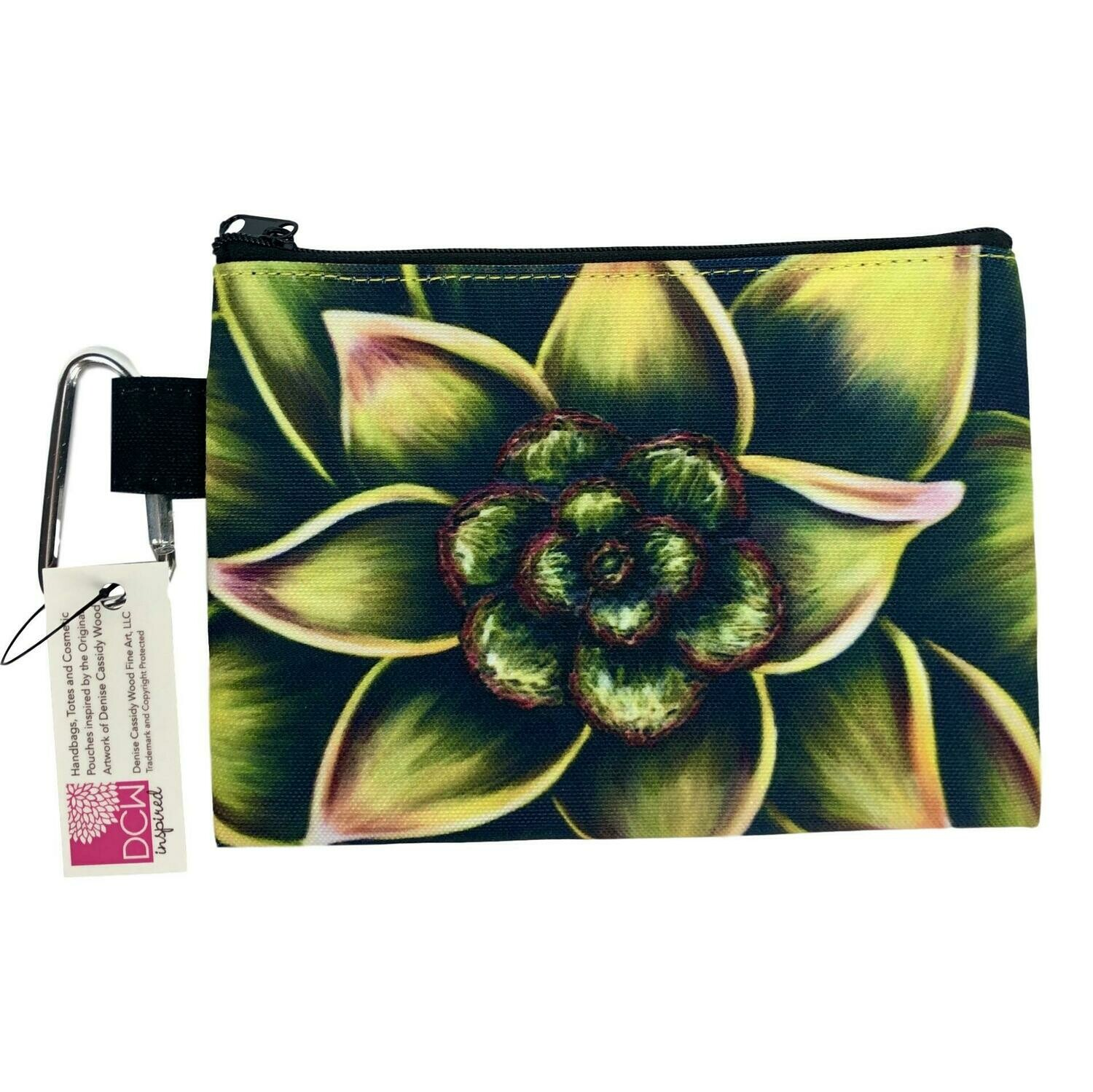 Succulent Small Cosmetic Pouch
