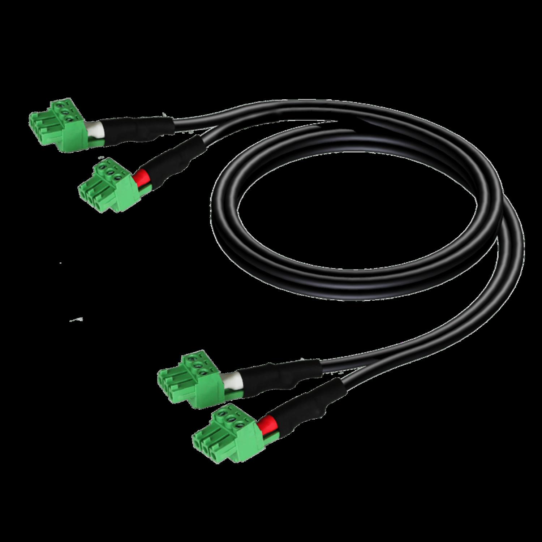 Procab CLA830/0.5 - 2 x terminal block - 2 x terminal block (3p - 3.81mm) 0,5 meter