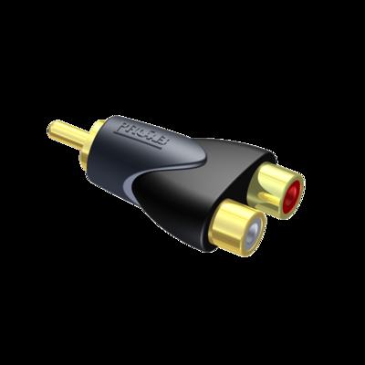 Procab CLP106 - Adapter - 2 x RCA/Cinch vrouwelijk - RCA/Cinch mannelijk