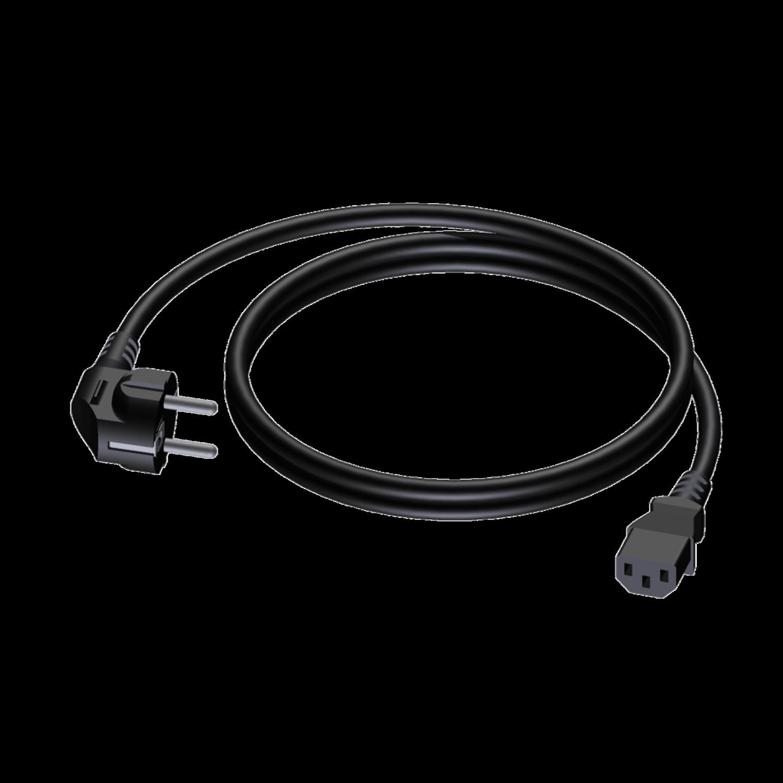 Procab CAB490/0.5 schuko mannelijk - euro/IEC vrouwelijk - 3 x 1.5 mm2 - 0,5m