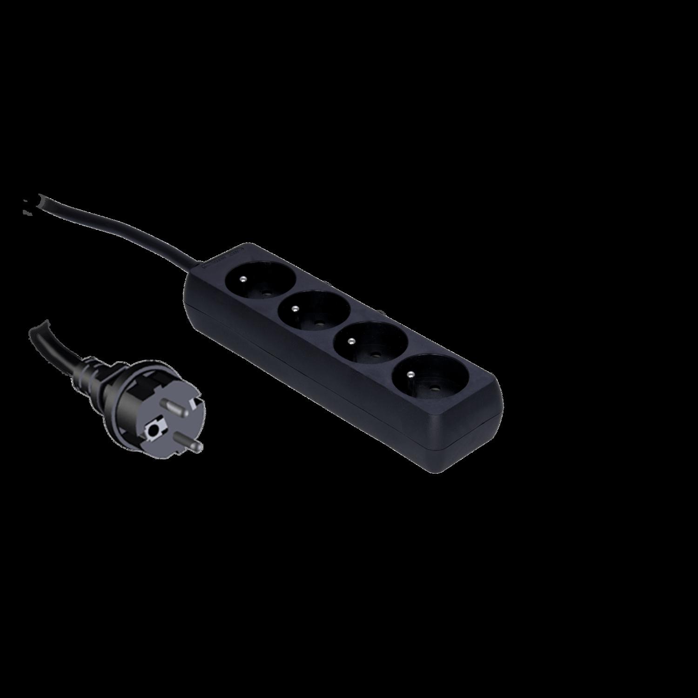 Procab PSC104/1.5-F - Powerbar met kinderveiligheid, 4-weg 4 franse stopcontacten 1,5m kabel