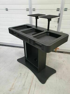 Zcase DJ Booth -2*Table top speler met mengtafel - zwart