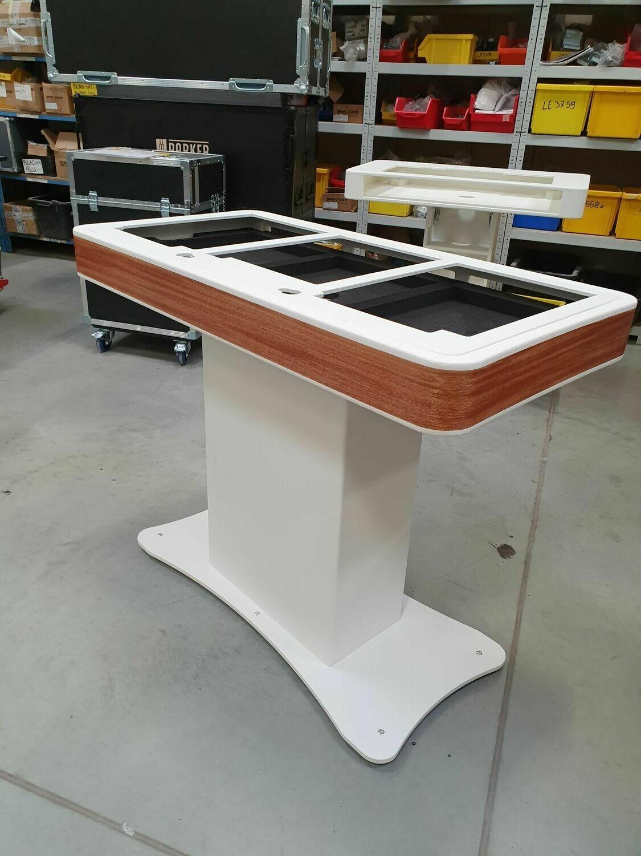 Zcase DJ Booth - 2* Table top speler met mengtafel - Zwart met fineer