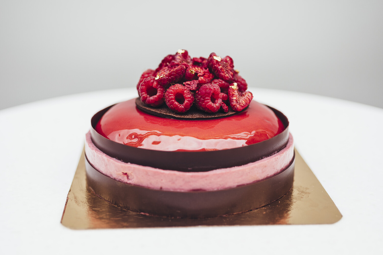 Торт малина и шоколад