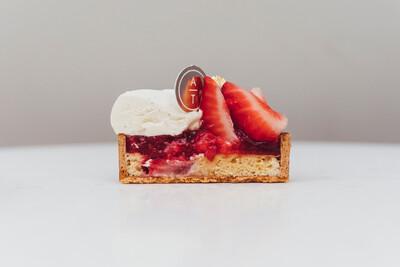 Тарт клубника-ваниль