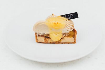 Тарт апельсин-фундук