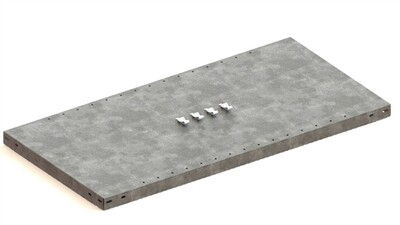 Extra legbord CLIP 100,  B1.000 x D500 mm, Verzinkt