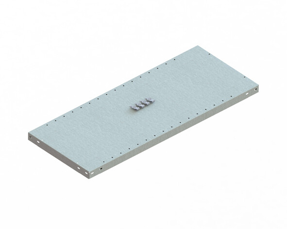 Extra legbord CLIP 150,  B1.000 x D400 mm, Verzinkt