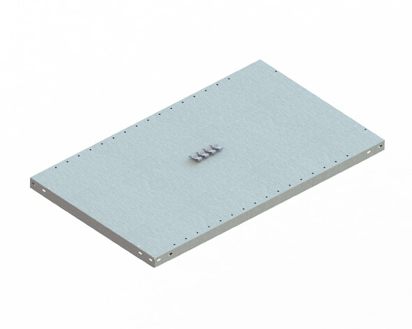 Extra legbord CLIP 150,  B1.000 x D600 mm, Verzinkt