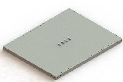 Extra legbord CLIP 230,  B1.000 x D800 mm, Verzinkt