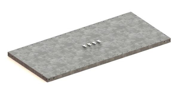 Extra legbord CLIP 230,  B1.300 x D600 mm, Verzinkt