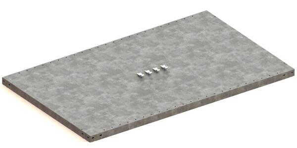 Extra legbord CLIP 230,  B1.300 x D800 mm, Verzinkt