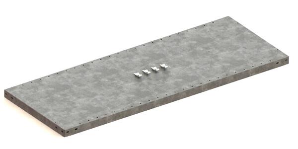 Extra legbord CLIP 230,  B1.300 x D500 mm, Verzinkt