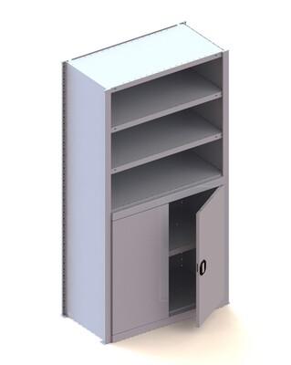 Kastmodule basis halve deur, H2.000 x B1.000 mm, RAL 7035