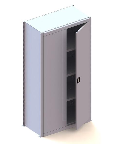 Kastmodule basis deur, H2.000 x B1.000 mm, RAL 7035