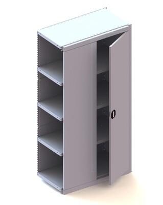 Kastmodule aanbouw deur, H2.000 x B1.000 mm, RAL 7035