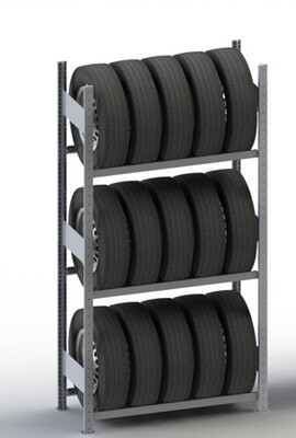 Bandenstelling S3, Basismodule, H2.000 x D400 mm, Verzinkt