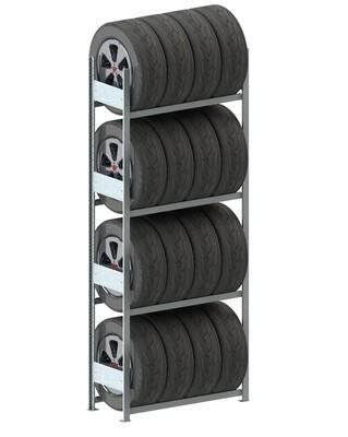 Bandenstelling S3, Basismodule, H2.500 x D400 mm, Verzinkt