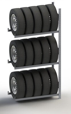 Bandenstelling S3, Aanbouwmodule, H2.000 x D400 mm, Verzinkt