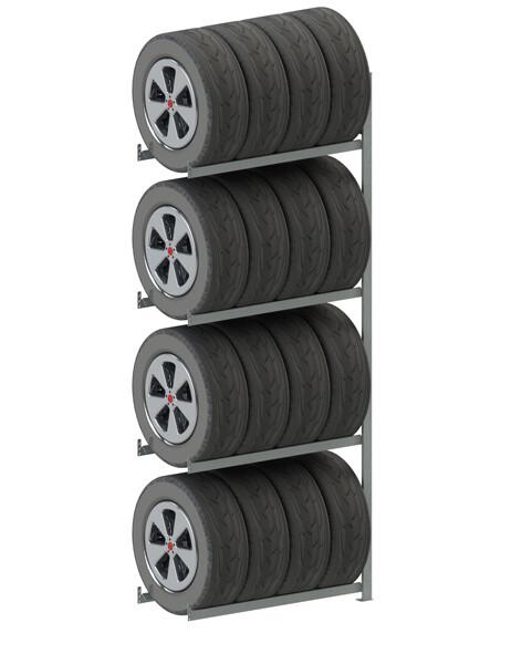 Bandenstelling S3, Aanbouwmodule, H2.500 x D400 mm, Verzinkt