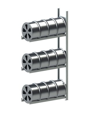 Velgenstelling S3, Aanbouwmodule, H2.000 x D300 mm, Verzinkt